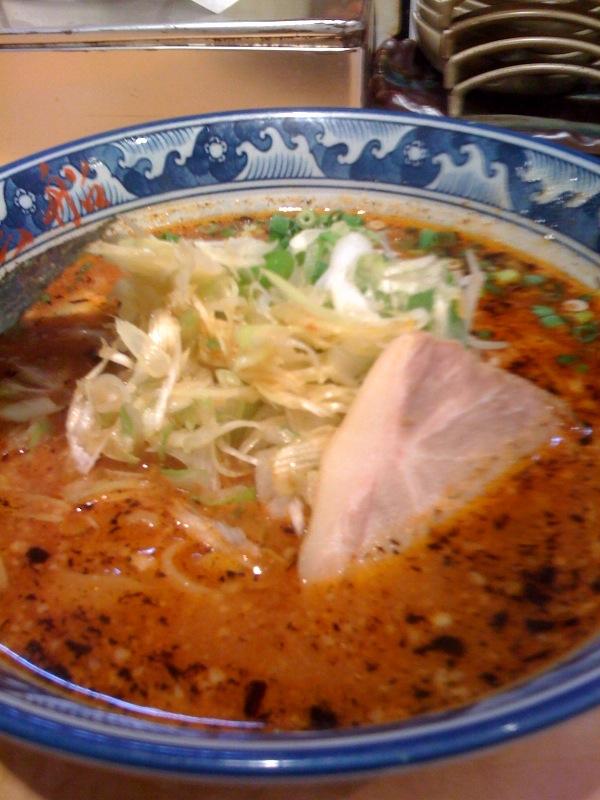 新橋 麺屋 黒船 葱味噌麺