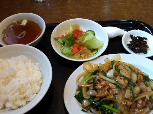 龍峰の 豚肉スタミナ炒めランチ ¥750