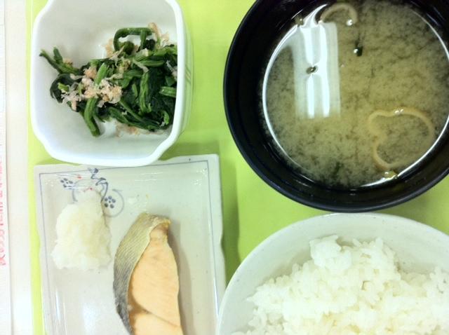 学食の朝ごはん ¥200‼