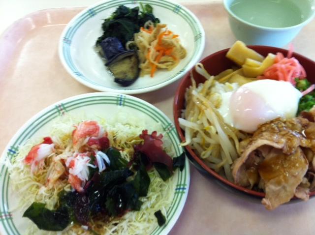 徳島ラーメン風丼 と 夏のバランス惣菜サラダ