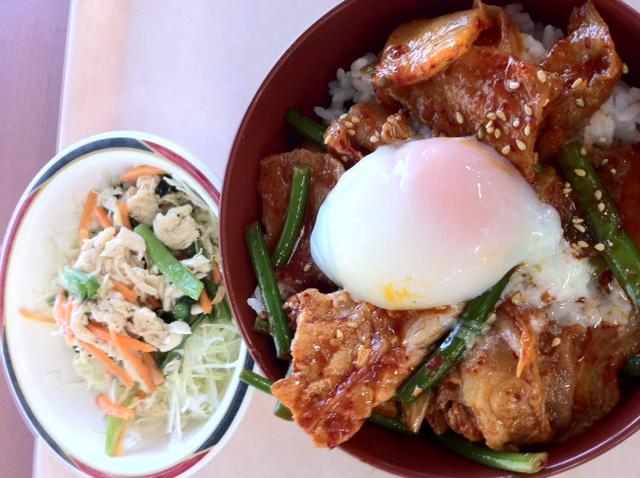 スタミナ豚キムチ丼S ナムルサラダ